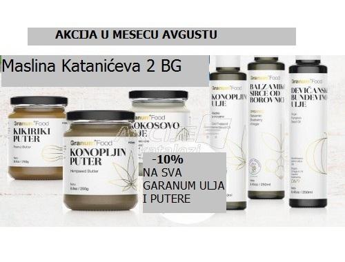 AKCIJA  U AVGUSTU -10% NA GRANUM ULJA I PUTERE