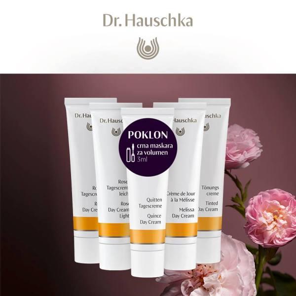 SPECIJALNA PONUDA KUPOVINOM DR.HAUSCHKA KREMA ZA LICE POKLON MASKARA ZA VOLUMEN 3ML