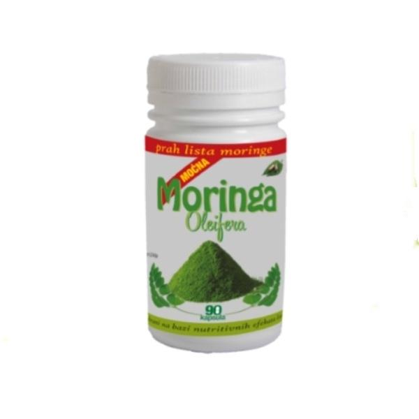 Moćna Moringa Oleifera  organska Zdravo bilje 90 kapsula