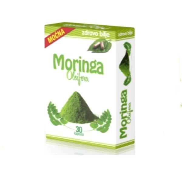 Moćna Moringa Oleifera  organska Zdravo bilje 30 kapsula